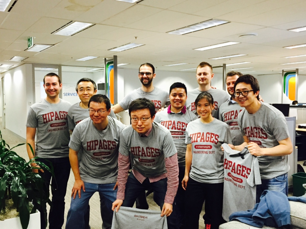 Hipages Engineering Dept - Tshirt swagger